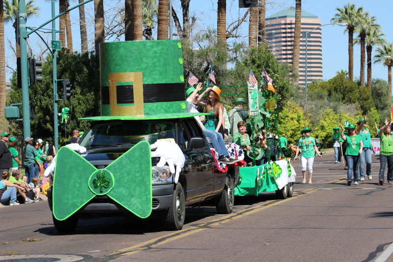 The Greenest Day in the Desert – St. Patrick's Day Parade and Faire